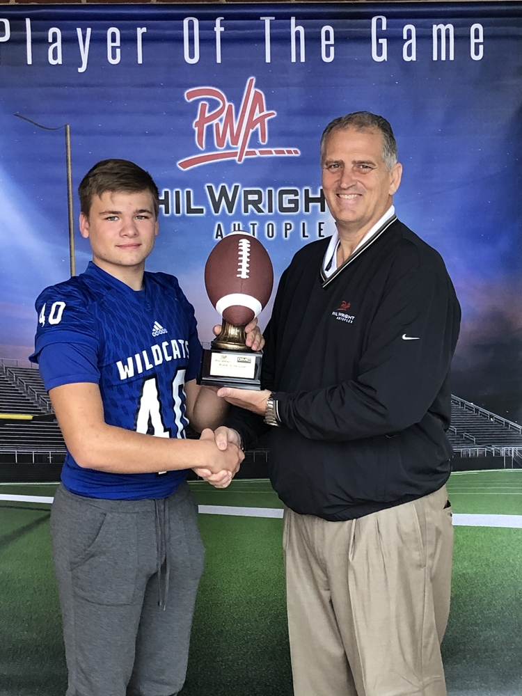 Week 8 Phil Wright Player of the Game